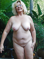 Various chubby ladies completely naked in a nature - Chubby Naturists